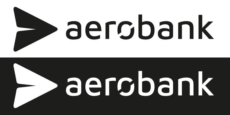 Aerobank Logo schwarz und weiß